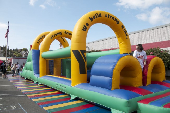Healthy Kids Day Is On Until 1 Pm At The West Seattle Ymca Wsb Sponsor In Triangle 4515 36th Sw Our Photo Above Shows Inflatable Obstacle